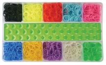 Kreativní souprava gumiček - 3000 ks