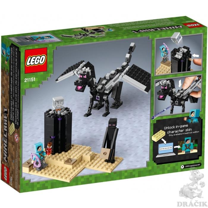 dd53eef57 21151 LEGO MINECRAFT - Závěrečná bitva   Dráčik