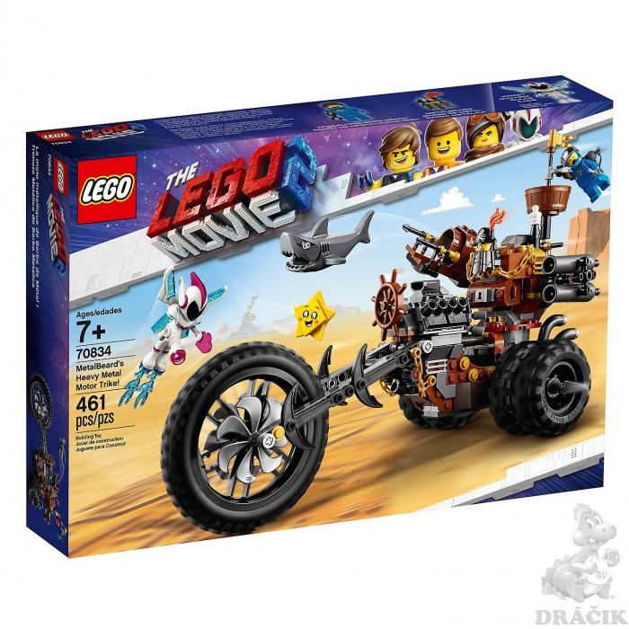 6c815fbbd 70834 LEGO MOVIE 2 - Ocelákova motorová tříkolka Heavy Metal!   Dráčik